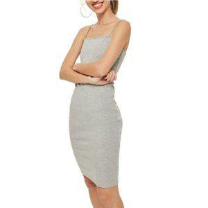 TopShop NWT Gray Slip Cami Bodycon Tank Dress 8